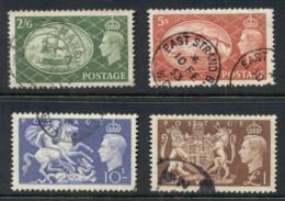 GB 1951 KGVI High Values FU - 1902-1951 (Kings)