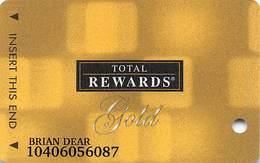 Harrah's Casino Multi-Property - TR Gold Slot Card @2006 / 11 Casino Logos - Casino Cards