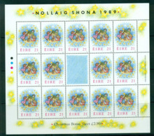 Ireland 1989 Xmas Sheet + Label MUH Lot57388 - 1949-... Republic Of Ireland