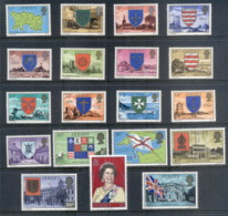 Jersey 1976-77 QEII Pictorials, Views & Arms MUH - Jersey