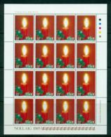Ireland 1985 Xmas Holly Sheetlet 16 MS MUH Lot57383 - 1949-... Republic Of Ireland