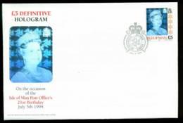 Isle Of Man 1994 £5 Holographic QEII Definitive HV FDC Lot24854 - Man (Ile De)