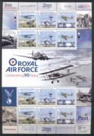 Isle Of Man 2008 RAF 90th Anniv Sheetlet 31p MUH - Man (Ile De)