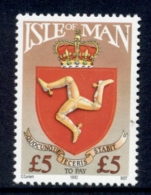 Isle Of Man 1992 ?5 Arms MUH - Man (Ile De)