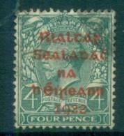 Ireland 1922 4d Grey-green Provisional Opt. Red Dollard FU Lot78391 - 1922-37 Irish Free State