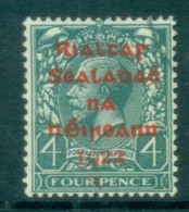 Ireland 1922 4d Grey-green Provisional Opt. Red Dollard FU Lot78389 - 1922-37 Irish Free State
