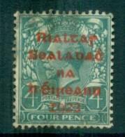 Ireland 1922 4d Grey-green Provisional Opt. Red Dollard FU Lot78390 - 1922-37 Irish Free State