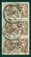 GB 1919 Seahorses Redrawn 2/6 Strip 3 FU Lot32694 - 1902-1951 (Könige)
