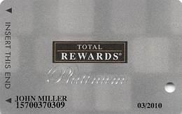 Harrah's Casino Multi-Property - DARK GREY TR Platinum Slot Card @2006 / 11 Casino Logos - Casino Cards