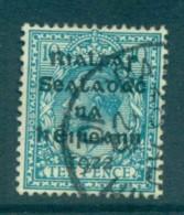 Ireland 1922 10d Turquoise Provisional Opt. Blk Dollard FU Lot78377 - 1922-37 Irish Free State