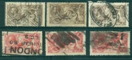 GB 1913-18 Seahorses 2/6, 5/- 3ea (faults) Used Lot32691 - 1902-1951 (Könige)