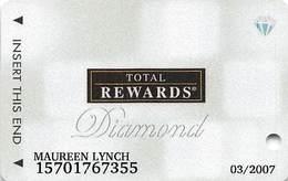 Harrah's Casino Multi-Property - TR Diamond Slot Card @2006 / 11 Casino Logos - Casino Cards