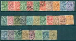 GB 1911-24 KGV Assorted Defins, Both Wmks FU Lot70199 - 1902-1951 (Könige)