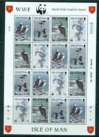 Isle Of Man 1989 WWF Puffins, Birds Sheetlet 16 MUH Lot57361 - Man (Ile De)
