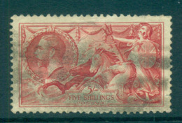 GB 1934 KGV 5/- Seahorse Re-engraved Carmine FU Lot66761 - 1902-1951 (Könige)