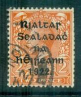 Ireland 1922 2d Orange Die I Provisional Opt. Blk 15x17mm Coil Harrison FU Lot78412 - 1922-37 Irish Free State