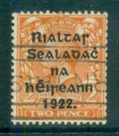 Ireland 1922 2d Orange Die I Provisional Opt. Blk 15x17mm Coil Harrison FU Lot78413 - 1922-37 Irish Free State