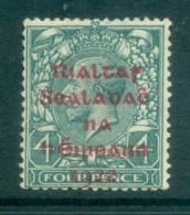 Ireland 1922 4d Grey-green Provisional Opt. Carmine Dollard MLH Lot78395 - 1922-37 Irish Free State