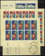 Guernsey 1994 Europa Archaeological Discoveries 4xsheetlet MUH - Guernsey