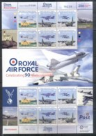 Isle Of Man 2008 RAF 90th Anniv Sheetlet 90p MUH - Isola Di Man