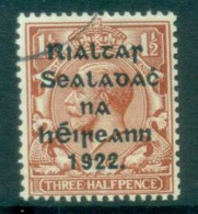 Ireland 1922 1.5d Red-brown Provisional Opt. Blk 15x17mm Coil Harrison(suspect Cancel) FU Lot78411 - 1922-37 Irish Free State