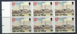 Isle Of Man 1978 Pictorials, 7p Perf 14.5 Blk6 MUH - Isle Of Man