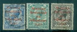 Ireland 1922 2.5d-9d Provisional Opt. Red Dollard FU Lot78386 - 1922-37 Irish Free State