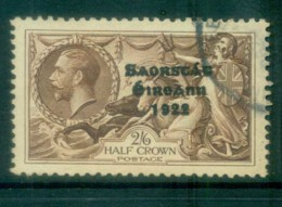 Ireland 1935 2/6d -brown Seahorse Provisional Opt. Blue-Blk 3 Line Re-engraved FU Lot78519 - 1922-37 Irish Free State