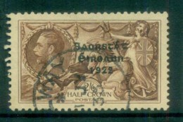 Ireland 1935 2/6d Brown Seahorse Provisional Opt. Blue-Blk 3 Line Re-engraved FU Lot78520 - 1922-37 Irish Free State