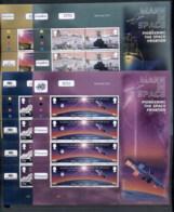 Isle Of Man 2003 Mann In Space, Pioneering The Space Frontier 4xMS MUH - Man (Ile De)