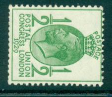 GB 1929 PUC ½d Watermark Sideways MUH Lot32666 - 1902-1951 (Könige)