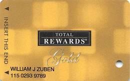 Harrah's Casino Multi-Property - TR Gold Slot Card @2007 / 11 Casino Logos - Casino Cards