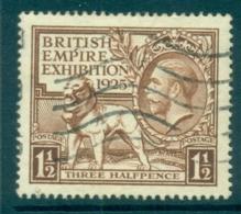 GB 1925 1.5d British Empire Exhibition FU Lot70203 - 1902-1951 (Könige)