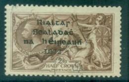 Ireland 1922 2/6d Brown Seahorse Provisional Opt. Blk Dollard FU Lot78396 - 1922-37 Irish Free State