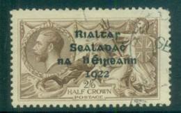 Ireland 1922 2/6d Brown Seahorse Provisional Opt. Blk Dollard FU Lot78397 - 1922-37 Irish Free State
