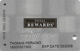 Harrah's Casino Multi-Property - TR Platinum Slot Card @2007 / 11 Casino Logos - Casino Cards