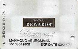 Harrah's Casino Multi-Property - TR Diamond Slot Card @2007 / 11 Casino Logos / Text Moved Right For Photos - Casino Cards
