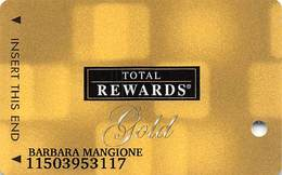 Harrah's Casino Multi-Property - TR Gold Slot Card @2007 / 12 Casino Logos - Casino Cards