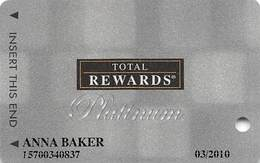Harrah's Casino Multi-Property - TR Platinum Slot Card @2007 / 12 Casino Logos - Casino Cards