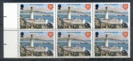 Isle Of Man 1978 Pictorials, 16p Perf 14.5 Blk6 MUH - Isle Of Man