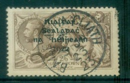 Ireland 1922 2/6d Grey-brown Seahorse  Provisional Opt. Blue-Blk 14.5x16mm Thom MLH Lot78460 - 1922-37 Irish Free State