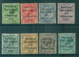 Ireland 1922 1/2d-10d Provisional Opt. Blk Dollard FU Lot78355 - 1922-37 Irish Free State