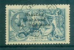 Ireland 1922 10/- Dull Grey-blue Seahorse Provisional Opt. Blk Dollard FU Lot78399 - 1922-37 Irish Free State