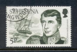 St Helena 1986 Explorers & Ships 5p Adam Johann Von Krusenstern FU - Sainte-Hélène