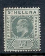St Helena 1902 KEVII Portrait 0.5d Green MH - Saint Helena Island