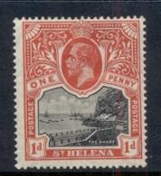 St Helena 1922-27 Badge Of The Colony 1d MH - Saint Helena Island
