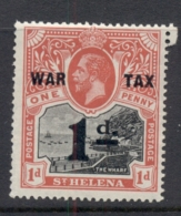 St Helena 1919 Badge Of The Colony Opt War Tax MUH - Saint Helena Island