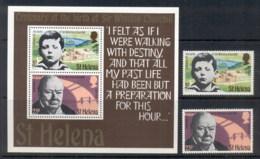 St Helena 1974 Winston Churchill + MS MUH - Saint Helena Island