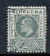 St Helena 1902 KEVII Portrait 0.5d Green FU - Saint Helena Island