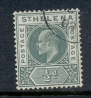 St Helena 1902 KEVII Portrait 0.5d Green FU - Sainte-Hélène